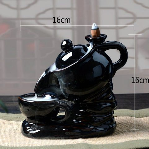 Teapot Ceramic Smoke Backflow Incense