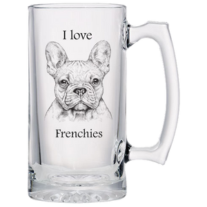 I love Frienchies Beer Mugs Laser Etched No Colored Art