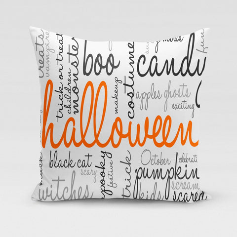 Halloween Words Pillow Cover