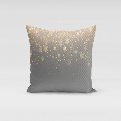 Snowflake Golden Pillow Cover