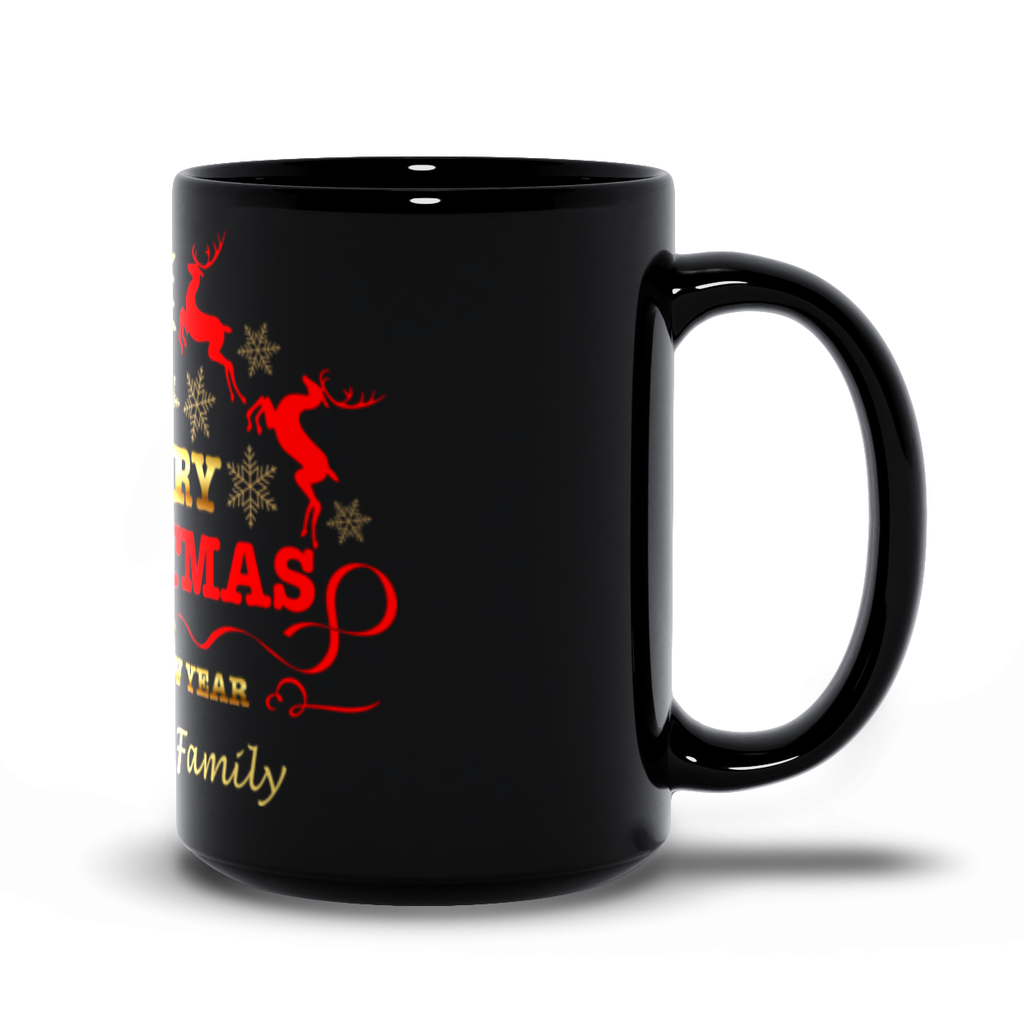 Merry Christmas And Happy New year Black Mugs - Personalize This
