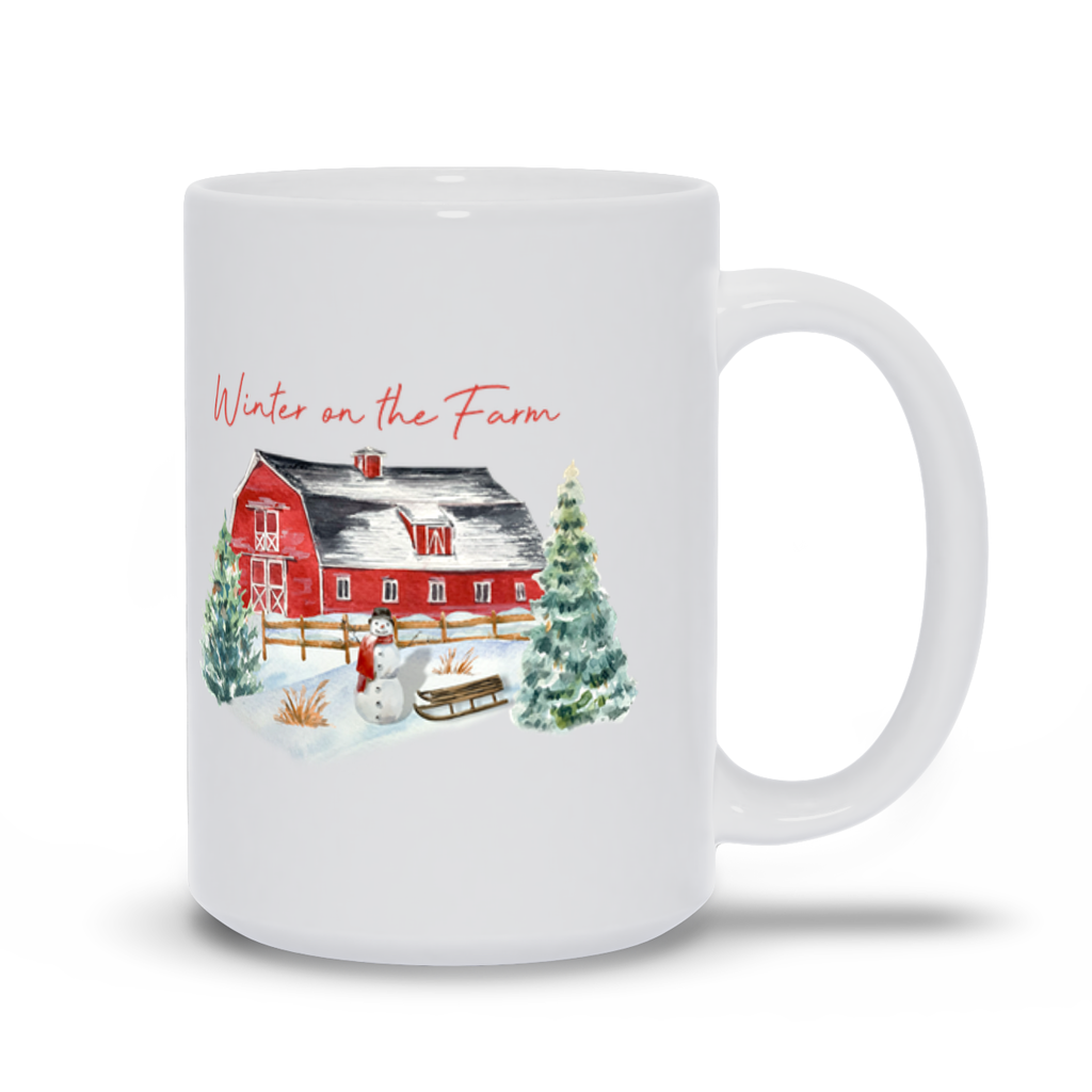 Winter on the Farm Mugs