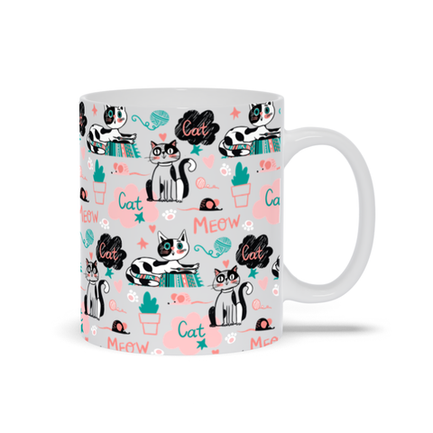 Colorful Mug for Cat Lovers