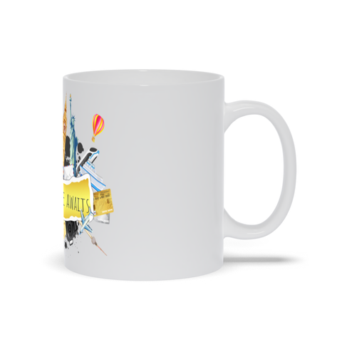 Mug with Travel Stickers
