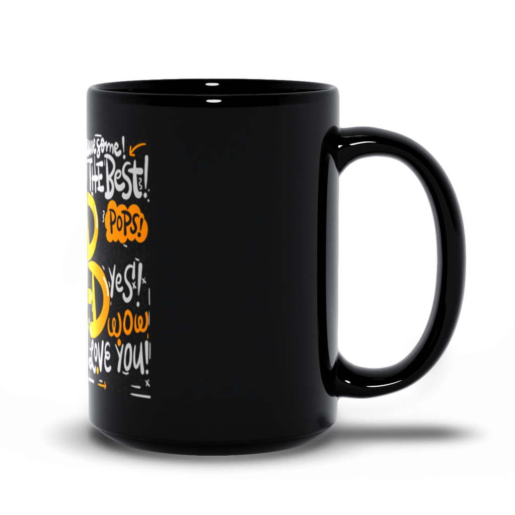 Worlds Best Rad Dad Black Mugs