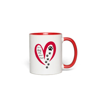 Let a Dog Into You Heart Mugs