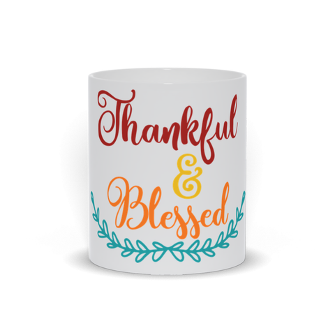Thankful and Blessed Mug - Fall Lover Mug