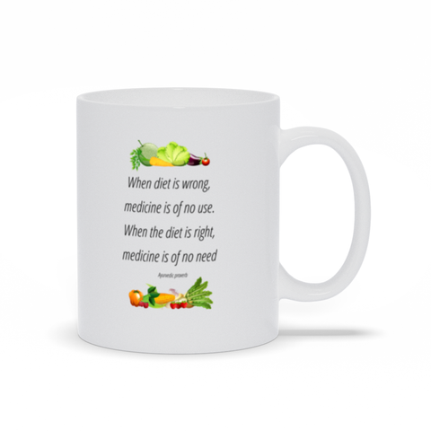 Image of When diet us wrong, medicine is of no use, - Mugs