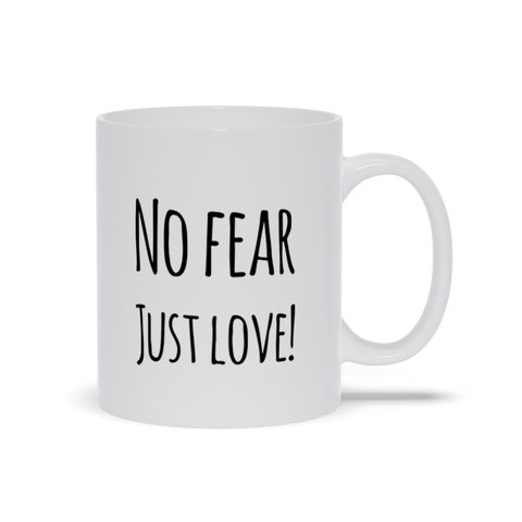 Image of No Fear Just Love Mugs