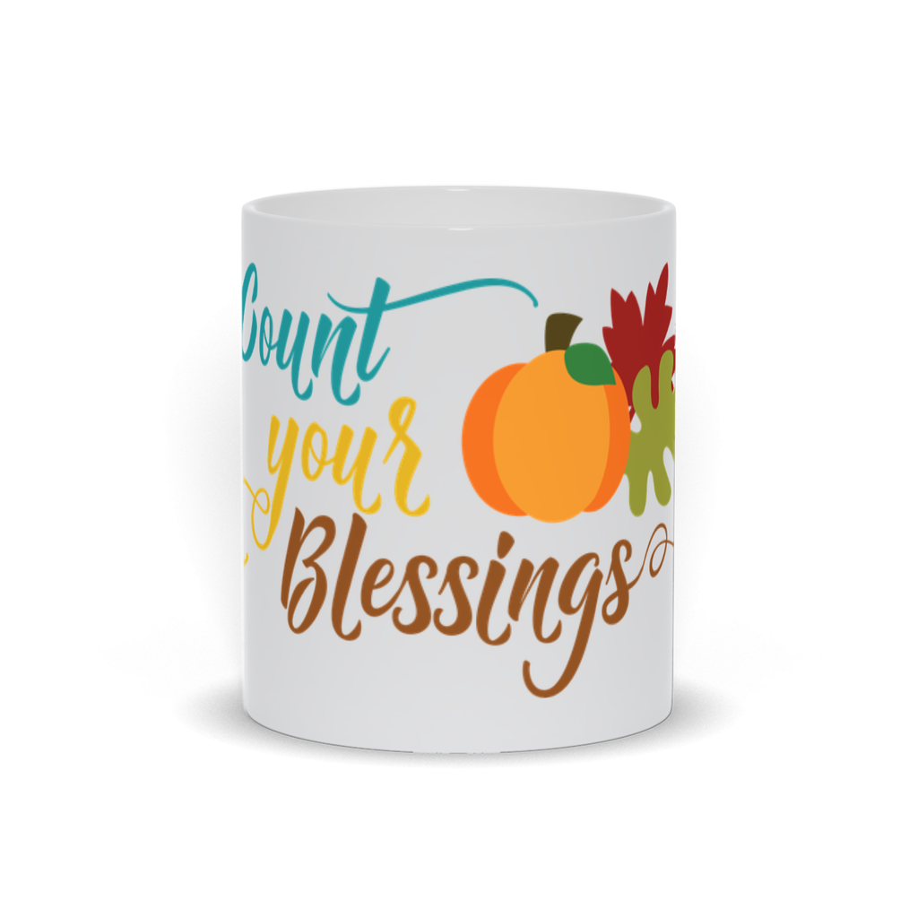 Count Your Blessing Mugs - 11oz and 15oz - Fall Lover Mug