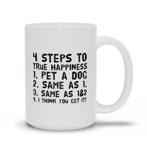 4 Steps to Happiness Mugs
