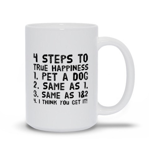 Image of 4 Steps to Happiness Mugs