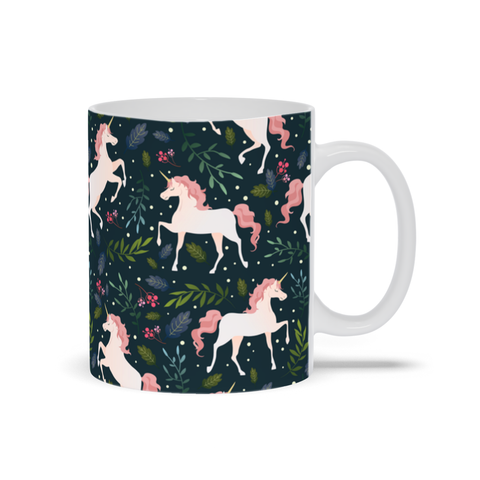 Mug with Pink Unicorn Design