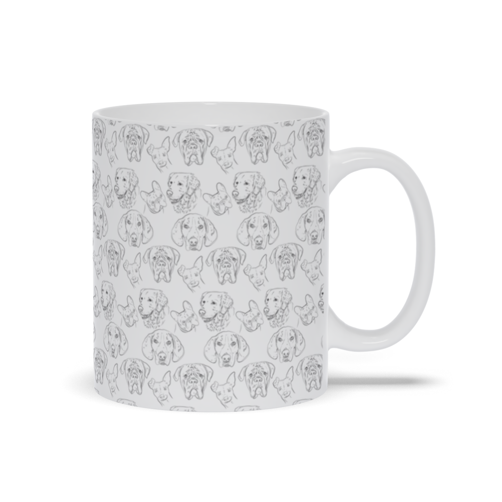 Mug with Dog Drawing Design
