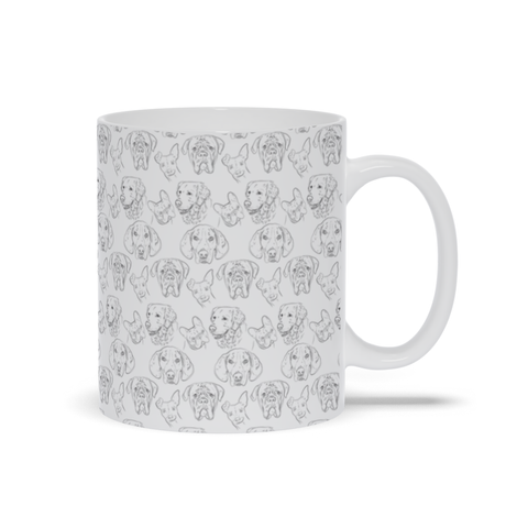 Image of Mug with Dog Drawing Design