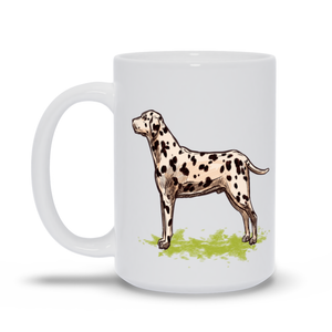 Mug with Hand drawn Dalmatian Design