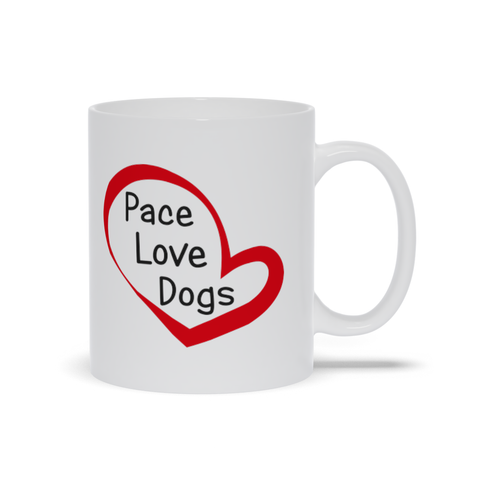 Image of Peace Love Dogs Mugs, Dog Lover Mug
