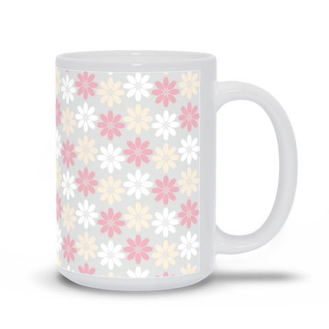 Mug with Pink Floral Pattern