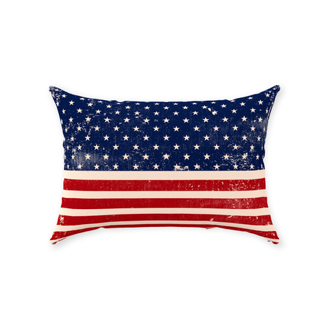 Image of American Flag Throw Pillows