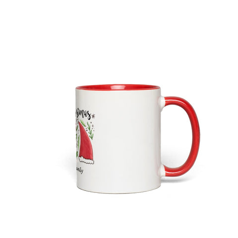 Merry Christmas Accent Mugs - with  Personalization