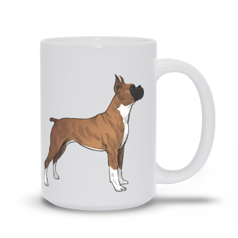 Mug with Hand drawn Boxer Design