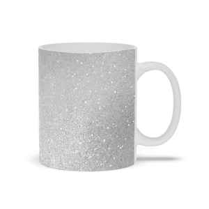 Mug with Silver Glitters Print