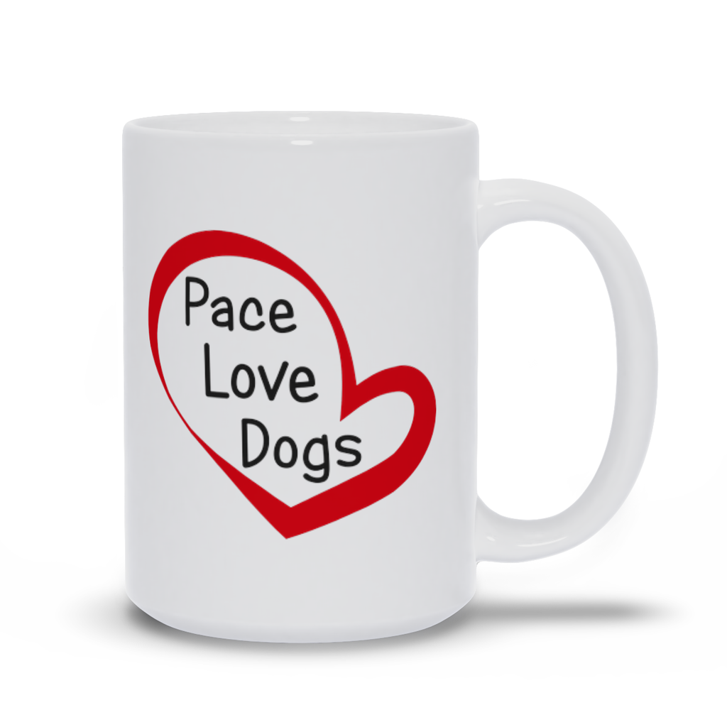 Peace Love Dogs Mugs, Dog Lover Mug