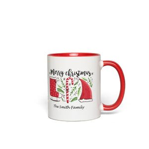 Merry Christmas Mug You Can Personalize with your family name or as a gift to a loved one