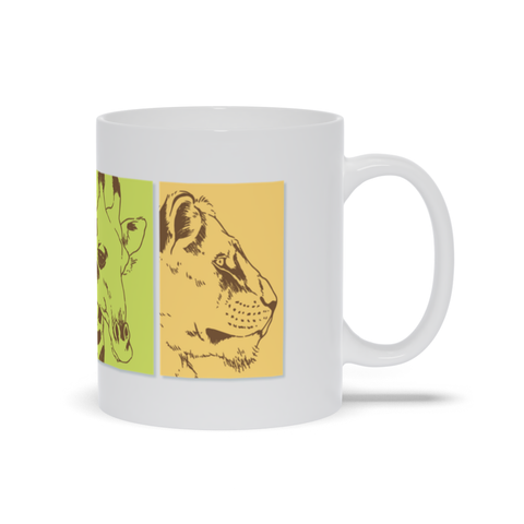 Image of Mug with Different Animal Portrait