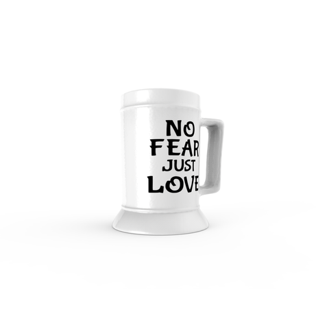 Image of No Fear Just Love Beer Steins