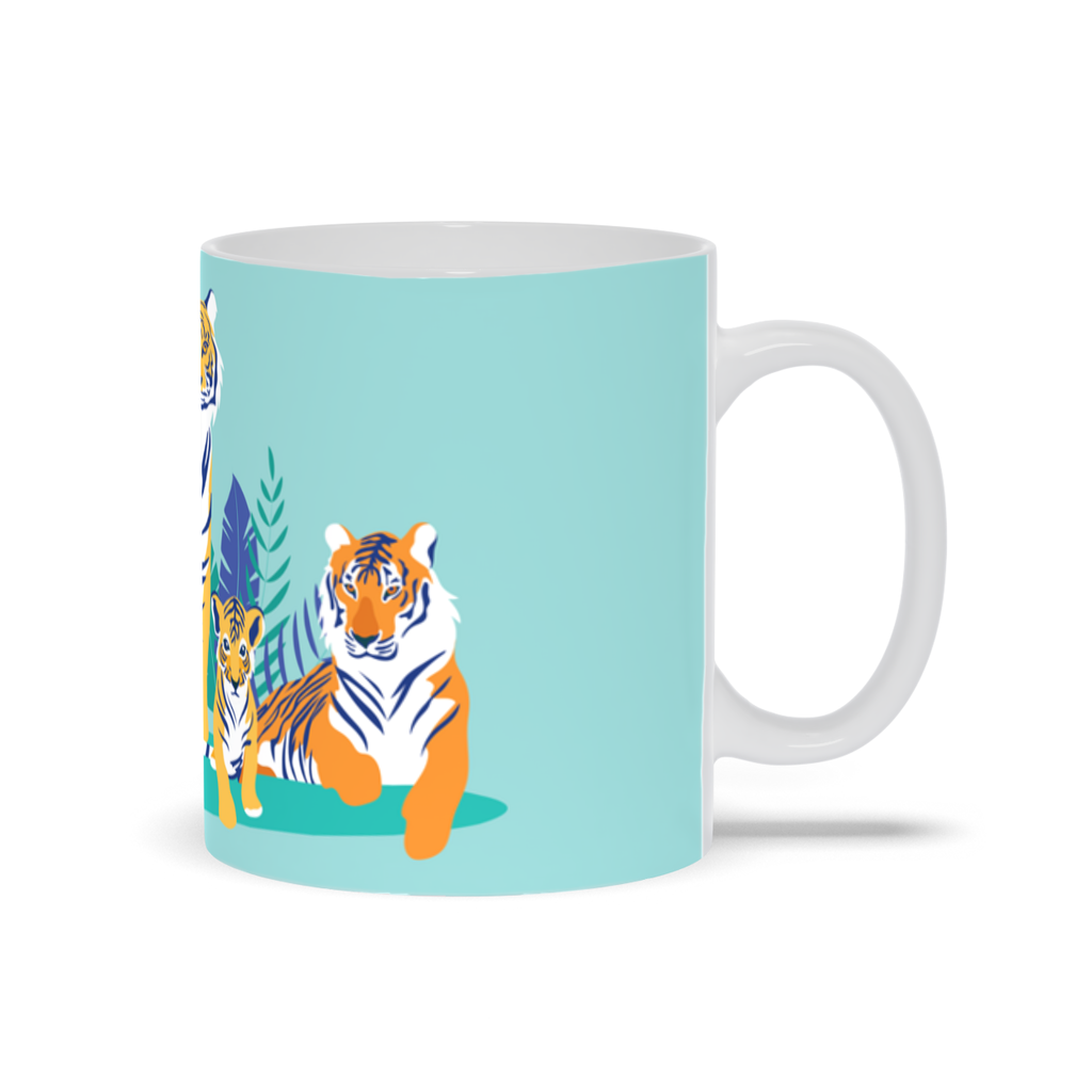 Mug with Tiger Design