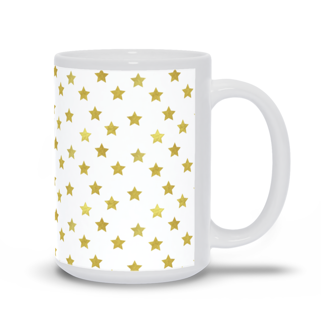 Mug with Gold Stars Design
