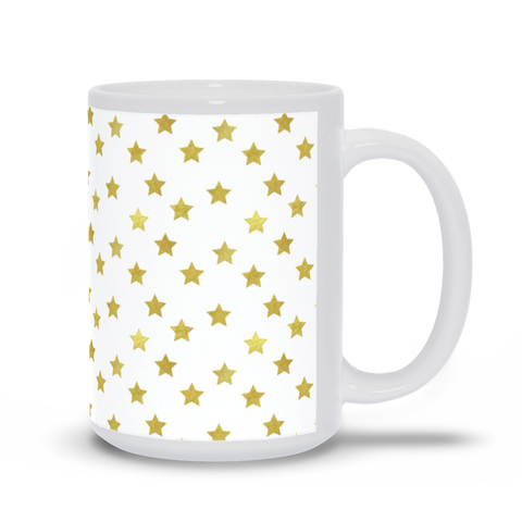 Image of Mug with Gold Stars Design