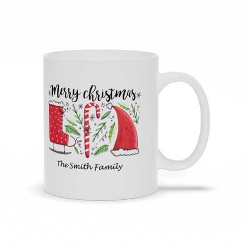Image of Merry Christmas Mugs You Can Personalize