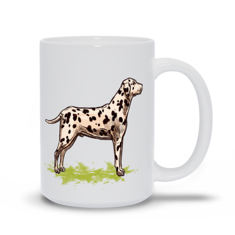 Image of Mug with Hand drawn Dalmatian Design