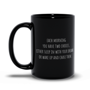 Inspirational Black Mug with Quotes