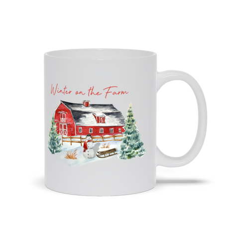 Image of Winter on the Farm Mugs