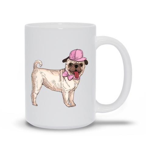Image of Pug in Pink Design Mug
