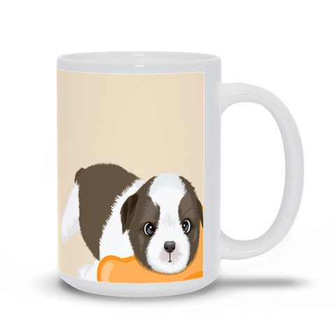 "Image of Mug with Dog Quotes- ""The best therapist has fur and four legs."""