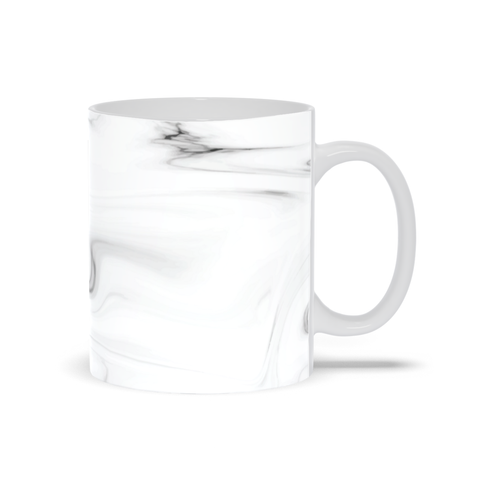 Image of Mug with Black and White Marble