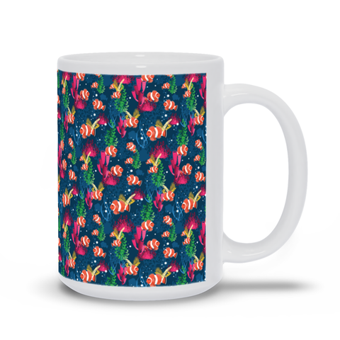 Under Water with Clown Fish Mug