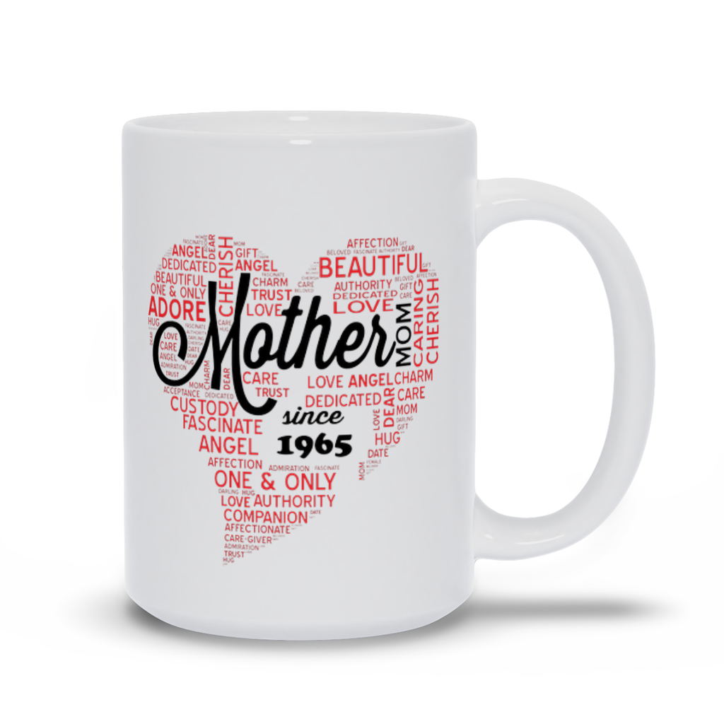Mother's Day Mugs - Personalize with year of birth. Mother's Day Gift