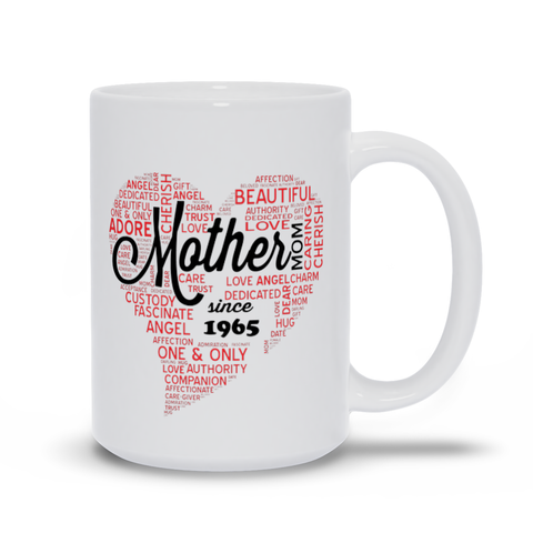 Image of Mother's Day Mugs - Personalize with year of birth. Mother's Day Gift