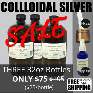 Colloidal Silver 32 oz Bottle - Pack of 3