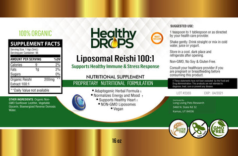 LIPOSOMAL REISHI 100:1 | BIOENERGIZED FOR INCREASED ABSORPTION
