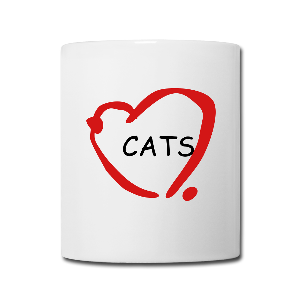 Cat Lovers Coffee/Tea Mug - white