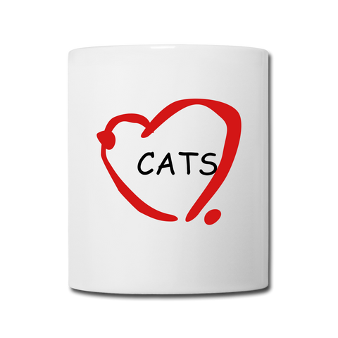 Image of Cat Lovers Coffee/Tea Mug - white