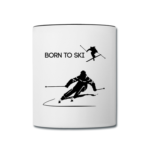 Image of Born to Ski Cofee Mug - white/black