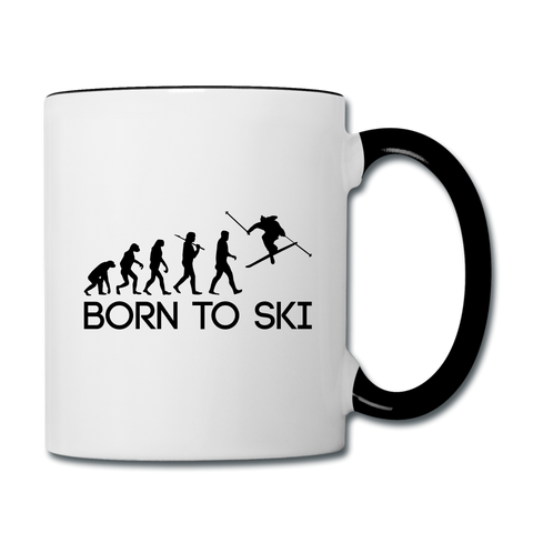 Born to Ski Cofee Mug - white/black