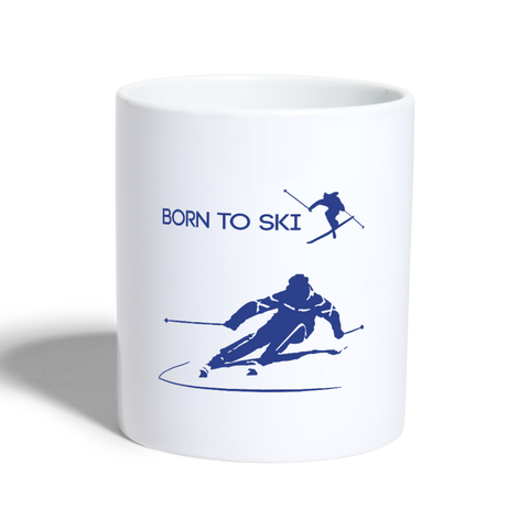 Image of Born to Ski - Coffee and Tea Mug - white